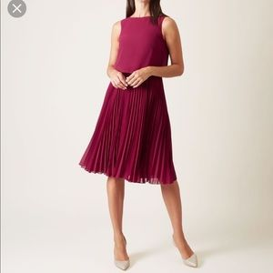 Hobbs London pink tabitha Dress NWT